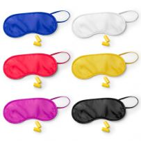 Sleep Eye Mask with Ear Plugs Elasticated Travel Blindfold